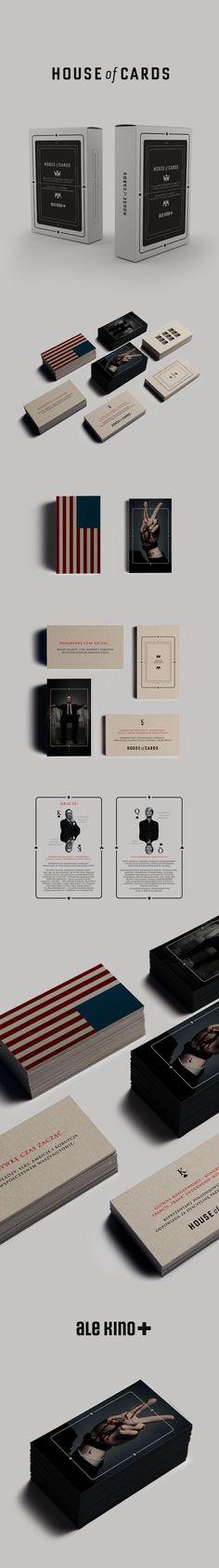 pinterest.com/fra411 #branding - House of Cards / Ale Kino+ by Zdunkiewicz