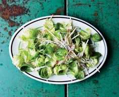 Crunch Turnip, Apple and Brussels Sprout Slaw. This slaw re-imagines brussels sprouts as an adorable mini salad green. Core them with a paring kn... - Peden + Munk