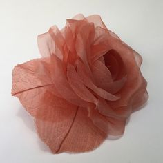 (Our fabrics are stiffened with gum arabic, a and non-toxic natural tree resin) Gum Arabic, Silk Organza, Grapefruit, Rose, Fabric, Handmade, Silk Flowers, Headpieces, Tejido