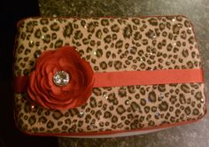 Glitter Leopard print baby wipes case by CrazyPresCreations, $9.50