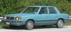 1987 Dodge Aries K sedan –mine was dark blue. Made it to florida and back!!!