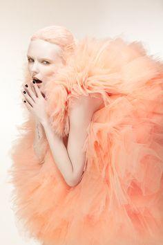 Bonnie Strange wears Marina Ballerina, photographed by Phillip Ackermann, 2011 Peach Colors, Orange Color, Pale Orange, Light Orange, Bonnie Strange, Editorial Photography, Fashion Photography, Rose Photography, Portrait Photography