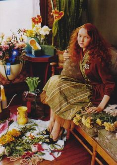 """The Terrier and Lobster: """"Senior Moment"""": Lily Cole and Old Ladies by Tim Walker for US Vogue"""