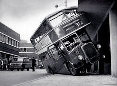 Bus crash in Northampton - looks to be in the London Bus, London City, Routemaster, Double Decker Bus, Bus Coach, Busses, Steam Engine, Bristol, Abandoned