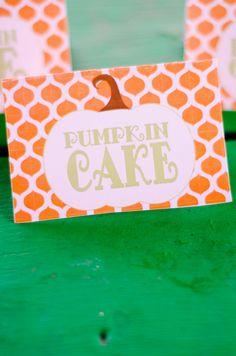 Thanksgiving Food Label Our Little Pumpkin Birthday by lovetheday - Kadyn 1st Birthday