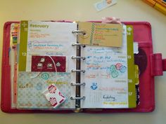 love the piecemeal feel of a personalized planner