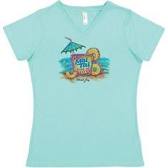 6283c248 22 Best Ladies Beach & Island T-Shirts images   Woman beach, V neck ...
