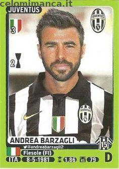 Calciatori 2014-2015: Fronte Figurina n. 240 Andrea Barzagli