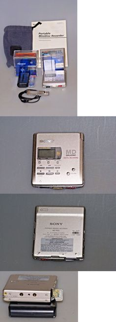 Personal MiniDisc Recorders: Sony Walkman Md Mz-R55 Portable Minidisc Recorder Player W/ Accessories And Discs! BUY IT NOW ONLY: $56.67