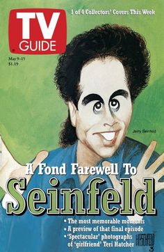 TV Guide May 9, 1998 (2 of 4) - Jerry Seinfeld of Seinfeld. Illustration by Al Hirschfeld.