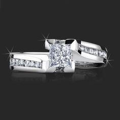 flush diamond engagement ring   ... channel-set-flush-style-4-prong-diamond-engagement-ring-bbr432-topview