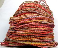 HandSpun 2ply Wool Yarn - Orchard Autumn