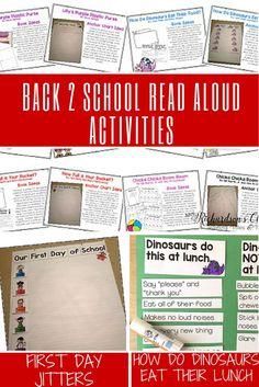 Back to School Read Aloud Activities #mrsrichardsonsclass