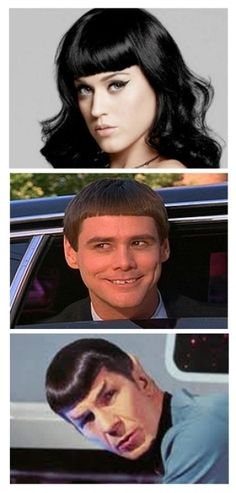 Who do you think Kate Perry got her hair bangs idea from?  #katiePerry #Bangs #KatiePerryBangs #CelebrityHair #JimCarryBangs #nelsonjsalon