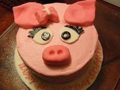 KT Kakes: Pig Smash Cake and Cupcakes: Custom Cakes