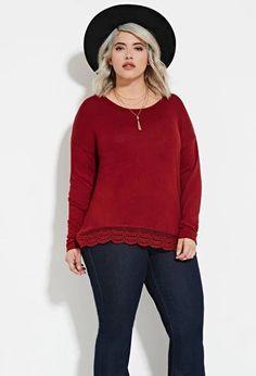 Plus Size Crochet Hem Top | Forever 21 PLUS #forever21plus