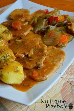 Kliknij i przeczytaj ten artykuł! Pork Recipes, Lunch Recipes, Dinner Recipes, Cooking Recipes, Polish Recipes, Polish Food, I Foods, Curry, Good Food