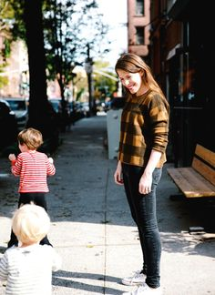 Letting kids take the lead and set the pace during neighborhood strolls.