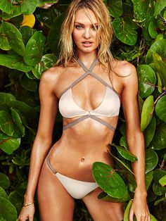 Sultry straps turn up the heat. | Victoria's Secret Strappy Wrap Halter