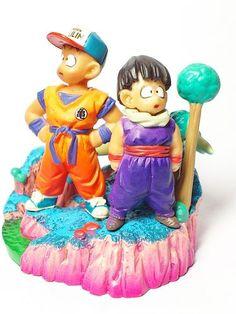Dragon Ball Z JAPAN Megahouse Bandai Gashapon Capsule Figure Krillin & Son Gohan
