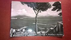 NAPLES  Italy  Mergellina and landscape  old post card  POSTED 1956