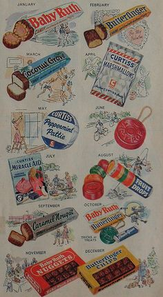 1940s CURTISS CANDY Vintage Illustration Advertisement | Flickr - Photo Sharing!