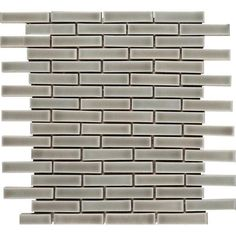 2611e8f2a85 For the rise on the island above the granite MSI Dove Gray Brick 12 in. x 8  mm Ceramic Mesh-Mounted Mosaic Wall Tile-PT-DG-BRK - The Home Depot