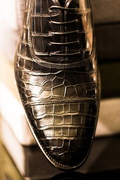 bllnr:    Rock out with your croc out: In Milan, sublime Italian shoemaker Santoni showcases its collection for next winter. Many more images at: http://bll.nr/wQbbc  (Photography by Andy Barnham) © Billionaire.com
