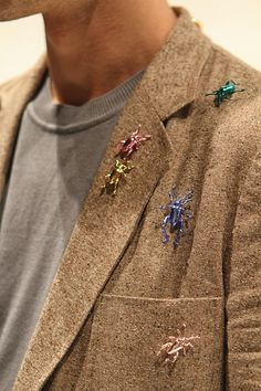 Insect accessories backstage at Vivienne Westwood MAN #SS13 #MFW