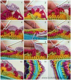 CTejidas [Crochet y Dos Agujas]: Tutorial #70: Alfombra Jardín Floral a Crochet