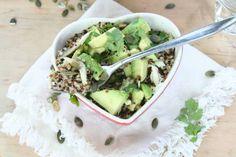 Quinoa met avocado en makreel - Lekker eten met Linda