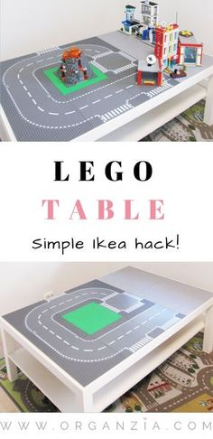 DIY Lego table. This is a super simple DIY tutorial, Ikea hack. Quick and easy DIY project, make it in less than 1 hour. Guaranteed hours and hours of fun.