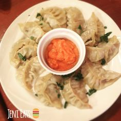 Momos from The Himalayan Yak, a Nepalese restaurant in Fargo, North Dakota.