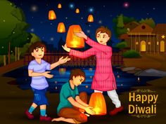 Indian Family People Celebrating Diwali Festival Of India Stock Vector - Illustration of diwali, illustration: 101004485 Festivals Of India, Indian Festivals, Rangoli Ideas, Rangoli Designs, Drawing For Kids, Drawing School, Diwali For Kids, Happy Islamic New Year, Happy Diwali Wallpapers