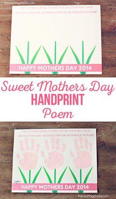 Mother's Day Handprint Poem-just add handprints! via @craftingchicks