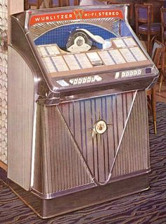 Wurlitzer 2410, year 1960, selections 100, 45 rpm.