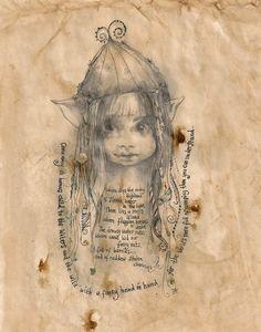 Stolen Cherries Fairy by Jilly Henderson   Artfinder, looks like Lynn!