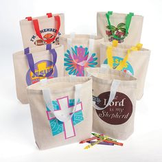 Religious Tote Bag Assortment - OrientalTrading.com