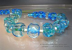 Collier aus kubische hohlen Handgewickelte Glas von manuelawutschke