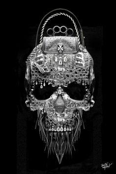 Skulls:  Fantasmagorick® Luxury #Skull, by Obery Nicolas, via Behance.