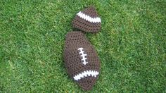 Cuddle cape set  football  0 to 3 months  by LOOPseventyseven, $15.00