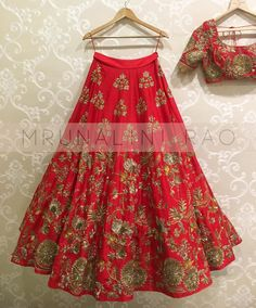 Red be the colour of this season mrunalini rao designer lehenga koela. 22 March 2017