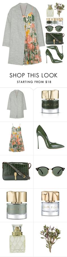 """""""Green With Envy: Wintery Nail Polish"""" by bmaroso ❤ liked on Polyvore featuring beauty, Brunello Cucinelli, Smith & Cult, Dorothy Perkins, Casadei, Elizabeth and James, Ray-Ban and Vera Bradley"""
