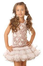 Ooh! La, La! Couture White Wiretrim Rose Poufier Dress