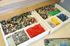 Under the Bed Rolling Lego Storage Drawers Tutorial
