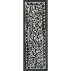 NOVICA Black and White Madhubani Painting of the Tree of Life (609.615 IDR) ❤ liked on Polyvore featuring home, home decor, wall art, black and white, madhubani, paintings, tree painting, black and white paintings, wall tree and tree branch painting