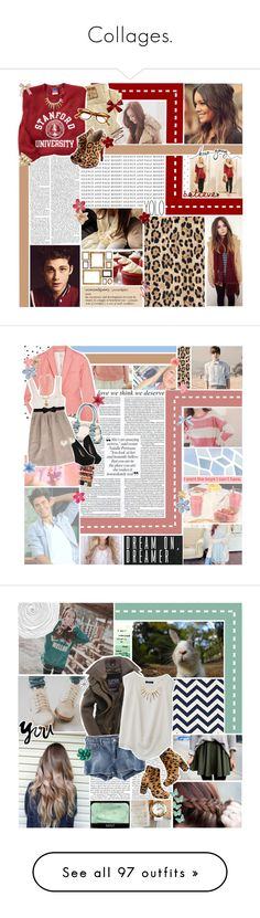 """""""Collages."""" by k-rista ❤ liked on Polyvore featuring True Religion, Melissa Odabash, Forever 21, Sue Devitt, Dorothy Perkins, leopard print, leopard print shoes, hoodies, sweatshirts and university"""