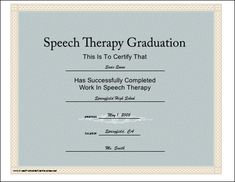 speech therapy certificate of completion  77 best SLP Certificate Freebies images on Pinterest | English class ...