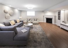 This is the basement of the Gala townhome in Findlay Creek Finished Basements, Semi Detached, Model Homes, Townhouse, Couch, Furniture, Design, Home Decor, Homemade Home Decor