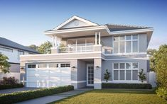 Beautiful hamptons style house Photos, magnificent style homes luxury or 55 hamptons house plans sydney Die Hamptons, Hamptons Style Homes, Style At Home, Halls, Exterior House Colors, Facade House, Luxury Homes Interior, Luxury Apartments, Interior Design